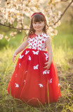 Детское платье Флер, цвет красный