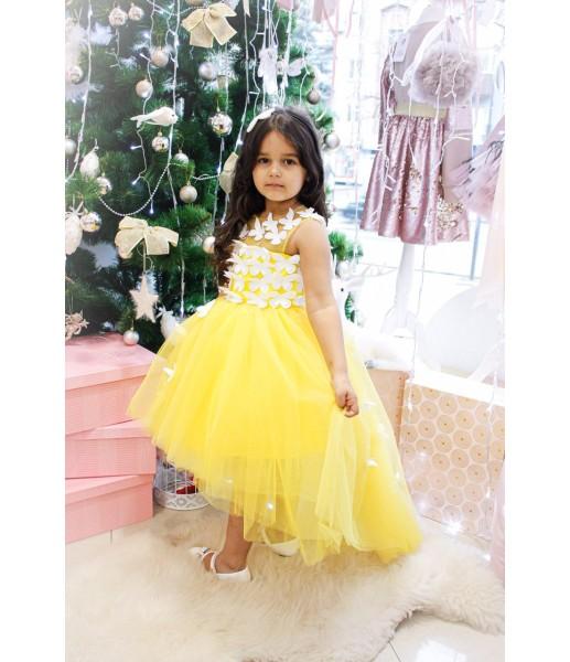 Детское платье Флер, цвет ярко - желтый