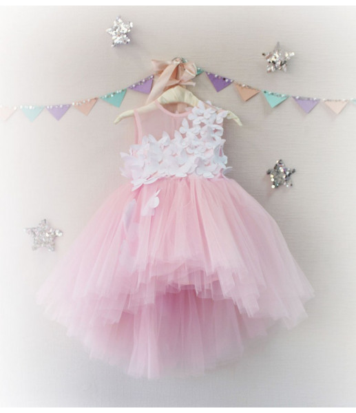 Детское платье Флер, в цвете розовый