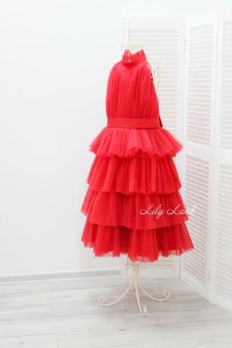 Детское платье Кристалл, цвет красный