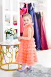 Детское платье Кристалл, цвет коралл