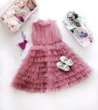 Детское платье Кристалл, цвет чайная роза