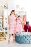 Комплект платьев Кристалл, цвет розовая пудра