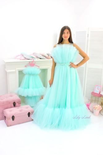 Комплект нарядных платьев Лябель,  цвет мята