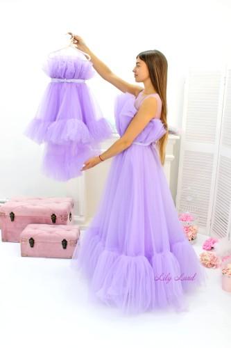 Комплект нарядных платьев Лябель,  цвет лаванда