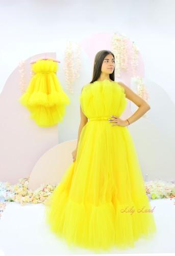 Комплект нарядных платьев Лябель,  цвет желтый