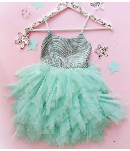 Детское платье Lily Dress, в цвете мята
