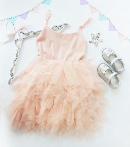 Детское платье Lily Dress, цвет персик