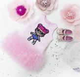 Детское платье Лолита розовое, куклы Лол