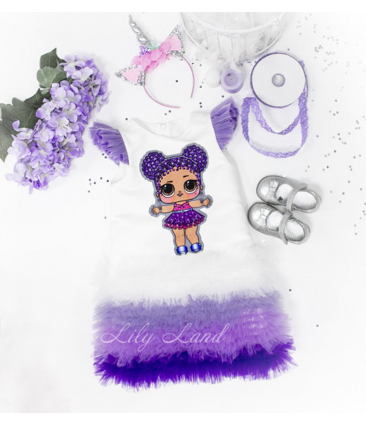 Детское платье Лолита лаванда, куклы Лол