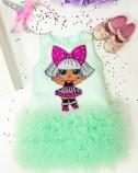 Детское платье Лолита мята, куклы Лол