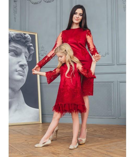 Комплект платьев Мелисса, цвет марсала