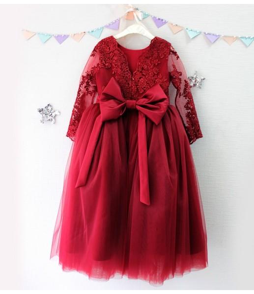 Детское платье Мелисса, цвет бордо