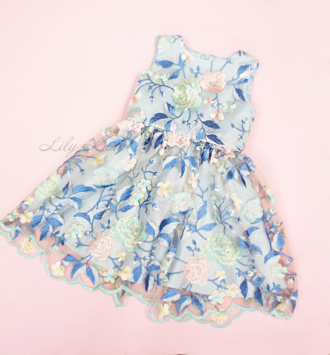 Детское платье Мэри, цвет голубой