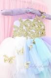 Нарядное платье MyLittlePony, с бабочками из глитера и шлейфом