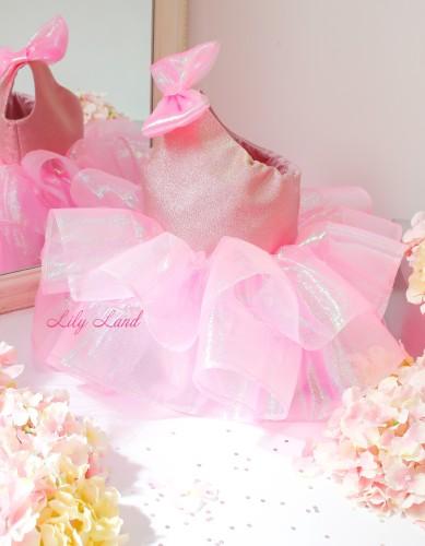 Детское нарядное платье Нелли, цвет розовый