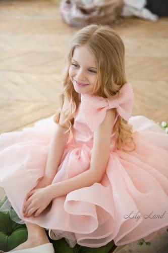 Детское нарядное платье Нелли, цвет персик