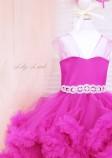 Детское нарядное платье Облако, цвет фуксия