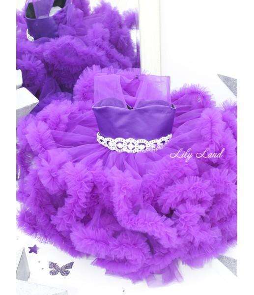 Комплект нарядных платьев Облако цвет фиолет