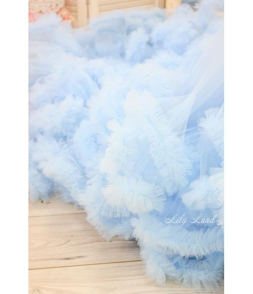 Женское платье Облако, цвет голубой