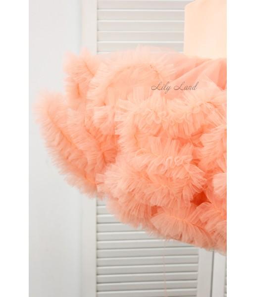 Детское нарядное платье Облако, цвет персик