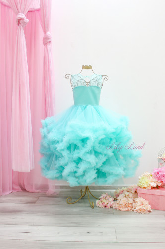 Детское нарядное платье Облако, цвет Тиффани