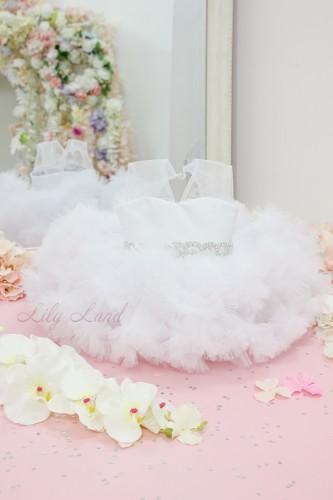 Детское нарядное платье Облако, цвет белый