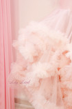 Детское нарядное платье Облако, цвет пудра с перьями