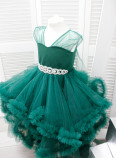 Детское нарядное платье Облако, цвет зеленый