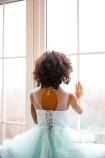 Детское нарядное платье Облако, цвет голубой
