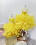 Детское нарядное платье Облако, цвет желтый