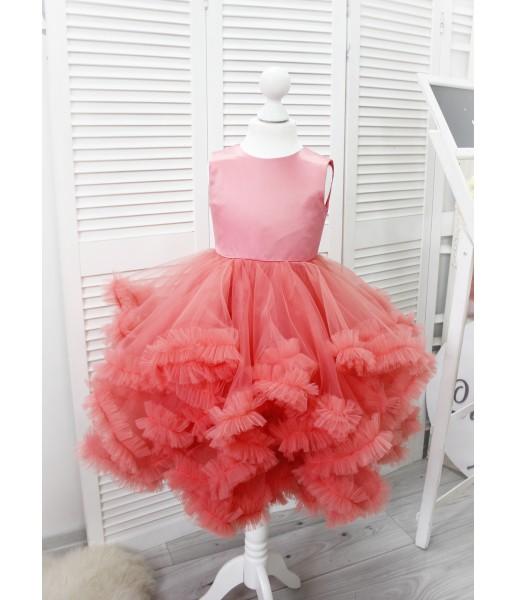 Детское нарядное платье Облако, цвет коралл
