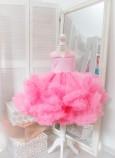 Детское нарядное платье Облако, цвет розовый