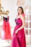 Комплект платьев Пайетка мелкая двусторонняя малиново-чёрная и малиновый фатин