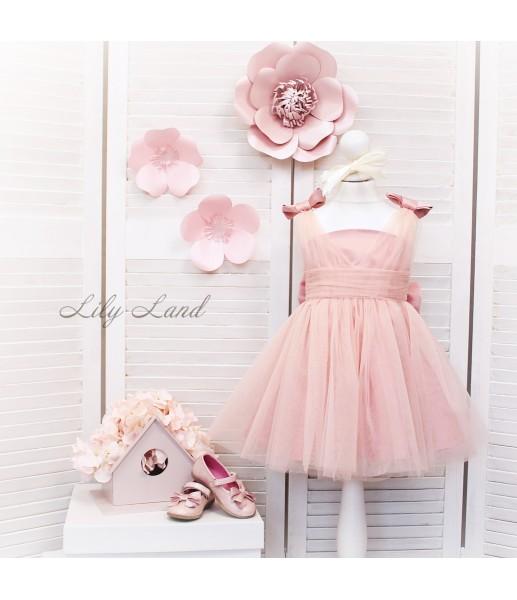 Детское платье Синдерелла, цвет пудра