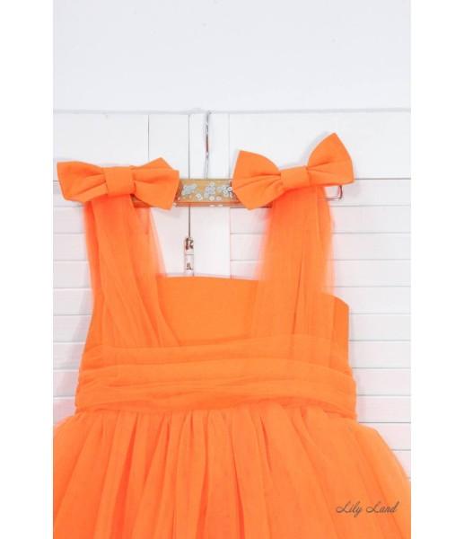 Детское платье Синдерелла, цвет оранжевый