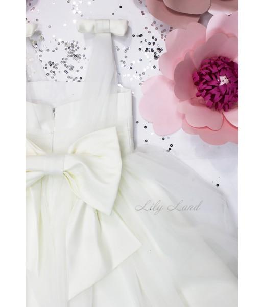 Детское платье Синдерелла, цвет белый