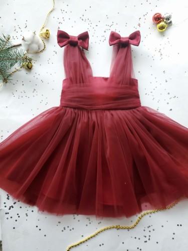 Детское платье Синдерелла, цвет бордо