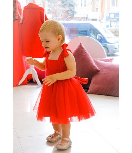 Детское платье Синдерелла, цвет красный