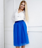 Комплект фатиновых юбок, цвет электрик