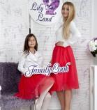 Комплект фатиновых юбок, цвет красный