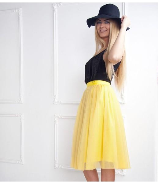 Фатиновая юбка для мамы, цвет желтый