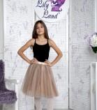 Фатиновая юбка для дочки, цвет капучино
