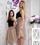 Фатиновая юбка для мамы, цвета капучино