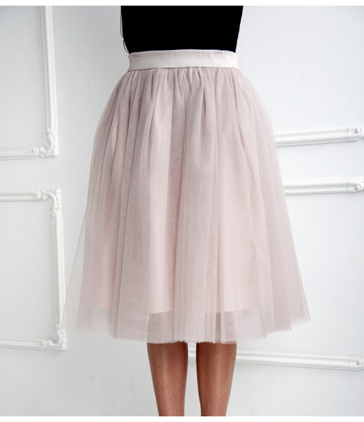 Комплект фатиновых юбок, цвет шампань