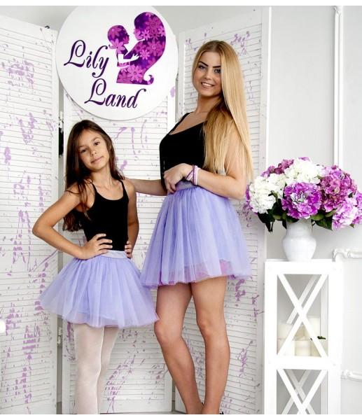 Фатиновая юбка для дочки, цвет лаванда