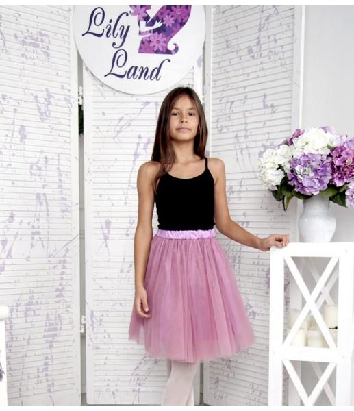 Комплект фатиновых юбок, цвет чайная роза