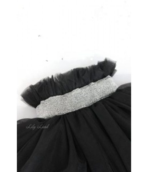 Юбка из фатина пышная, цвет черный