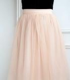 Комплект фатиновых юбок, цвет пудра персиковая