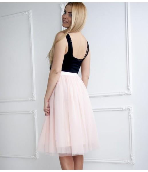Комплект фатиновых юбок, цвет пудра розовая